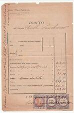 Fattura Istituto Maria Ausiliatrice con marche da bollo a tassa fissa - 1921