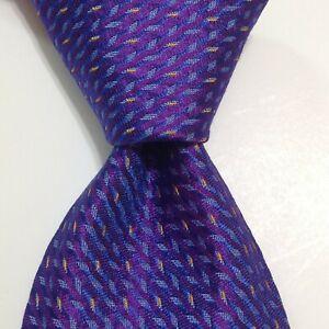 ROBERT TALBOTT Best of Class Mens Silk Necktie ITALY Luxury Purple/Blue NWT $155