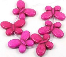 25x35mm Pink Turquoise Butterfly Beads - Halloween (6)