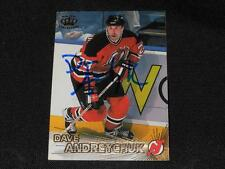 New Jersey Devils Dave Andreychuk Autograph 1997/98 Pacific Crown Card #84  JB10