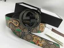 Authentic Gucci  Men's green color Tiger Belt  size 95/38 fits 34-38 waist