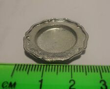 1:12 Scale  Silver Metal Tray Dolls House Miniature Kitchen Accessory T3
