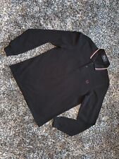EXCELLENT CONDITION - FRED PERRY BLACK POLO LONG SLEEVE - MEDIUM