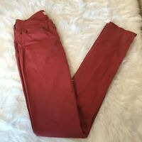 Stella Mccartney Sz 28 Red Skinny Jeans Made In Italy
