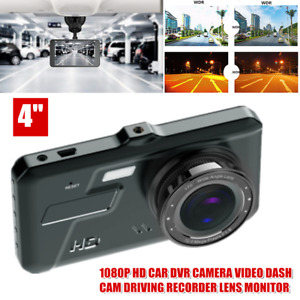 """4"""" Car DVR Video Dash Cam Driving Recorder Lens Monitor Infrared Night Vision"""