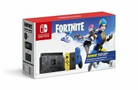 Nintendo Switch Fortnite Wildcat Bundle Yellow/Blue JoyCons Import Edition
