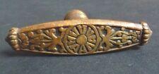 """Poignée de porte bronze doré  19e siècle estampille """"W.L"""""""