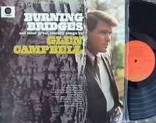 Glen Campbell OZ Reissue LP Burning bridges EX Capitol SENC9978 Country Nashvill