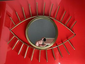 All seeing eye mirror for wall, Gold Color Brass? accent evil eye wall mirror