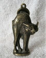 VINTAGE BRASS - SCAREDY CAT - ARCHITECTURAL INTERIOR DOOR KNOCKER - COLLECTIBLE!