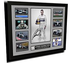 LEWIS HAMILTON F1 MERCEDEZ SIGNED LIMITED EDITION FRAMED MEMORABILIA