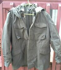 MILITARY/ Greek ARMY OD GREEN  M-65 W/ HOOD FIELD JACKET MEDIUM Reg.1978