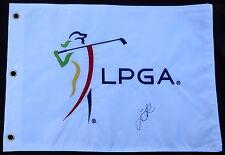 LYDIA KO AUTOGRAPHED LPGA GOLF FLAG (W/ PROOF!)