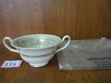 Wedgwood Gold Columbia SAGE GREEN - Soup Coupe / Bowl - New W backstamp