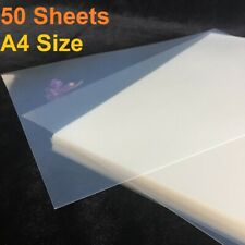 "Waterproof Inkjet Milky Transparency Film 8.5""x11"" for Screen Printing 50 Sheets"