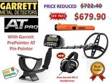 Garrett's AT Pro Submersible Metal Detector w/Garrett ProPointer AT & Headphones