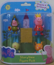 Peppa Pig ~ Princess Peppa Storytime figura Pack ~ incluye's 4 figuras
