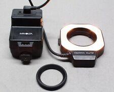 Minolta Auto Macro Ring-Light Flash & 80PX Control Unit for X-700 35mm SLR