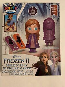 "Disney Frozen 2 ""Anna"" Softee Dough Two Colors and One 3D Figure Maker Cra-Z-Art"