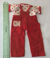 Attractive Top + Dungarees - ruler in photos - vintage dolls clothes