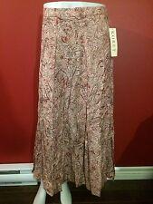KORET Women's Pink Regency Print Rayon Twill Skirt - Size 16 - NWT $48