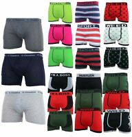 3 Pairs Mens Boxer Shorts Trunks Briefs Underwear Comfort Designer Boxers S-XL