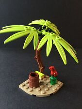 Lego New Lime Green Palm Tree -Island Bird Parrot Barrel Pirates Friends