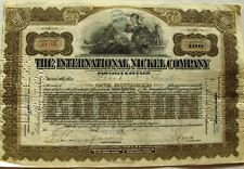 International Nickel Company stock certificate dated 1920's State of New Jersey