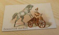 Sensation Cut Plugs Horse Clown Tricycle Vintage Trade Card Plorillard Company