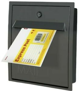 Charcoal Mayfair Fence Letterbox Mail Box Letter With Lock and Keys Made In AUS