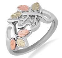 Landstrom's® Black Hills Gold on Sterling Silver Woman's Leaf Ring Size 4 - 10