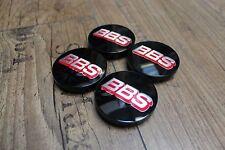 NEUHEIT BBS Emblem 56mm Schwarz Rot Silber Felgendeckel 09.24.668 Nabenkappen