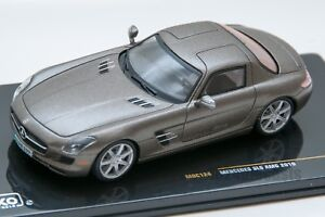 Mercedes SLS AMG 2010 grey, IXO MOC124, scale 1:43, adult car model gift