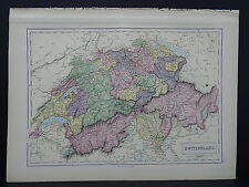 Black's 1876 Atlas, Switzerland, Single Page S2#3