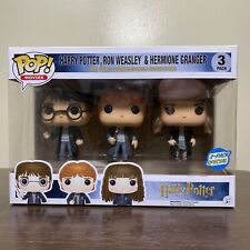 Funko Pop! 3 Pack Harry Potter Ron Weasley Hermione Granger Vaulted Exclusive