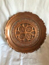 Kupferteller mit einem Durchmesser von ca. 28 cm