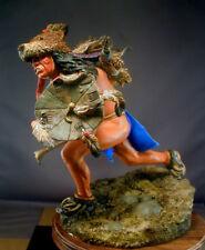"7"" Resin Yanktonai Sioux Bear Clan Warrior Resin Stunning MorningStar Kit Indian"