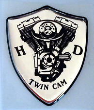 Harley Davidson ® Twin Cam 3d doming decal 2 trozo pegatinas