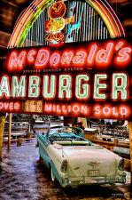 McDonalds Hamburgers Drive In  Metal Sign