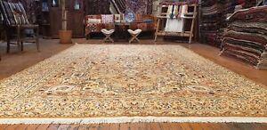 """Exquisite Vintage Natural Dye Wool Pile Legendary Hereke  Rug 7'4""""×12'"""