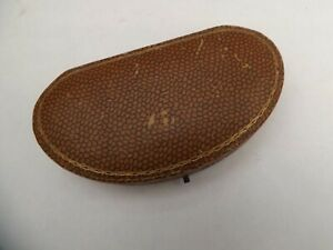 an antique shagreen covered kidney shaped jewellery box