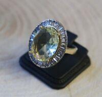 Turkish Handmade Jewelry Sterling Silver 925 Peridot Ladies Ring 6 7 8 9