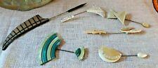 Lot Of 6 Antique Vintage Art Deco Hatpins. Hat Pins