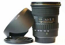 Excellent for Canon EF-S APS-C - Tokina 12-24mm SD (IF) DX AT-X Pro AF Zoom Lens