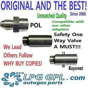 Propane bottle adaptor with bayonet adapter, Fill gas bottles for less with LPG