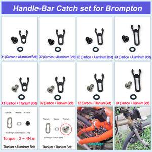 nov Handle-Bar Catch set for Brompton / H-Bar Catch / Titanium Carbom /novdesign