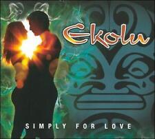EKOLU -  Simply For Love (Signed/Autographed Hawaiian CD, 2011, Waiehu)