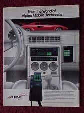 1984 Print Ad Alpine Car Stereo System ~ Red Lamborghini Sports Car