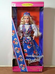 Norwegian Barbie Doll 1995 Dolls Of The World Collect. Mattel #14450 Damaged Box