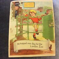 Vintage Book Print - He Hopped One Day to the London Zoo - 1940s